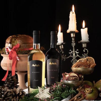 Confezione regalo con un vino bianco Bombino ed un vino rosso Nero di Troia