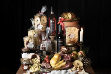 cesta natalizia con specialità pugliesi