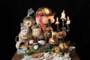 box viola idea regalo natalizia con prodotti pugliesi